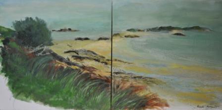 Les Iles Ebihens - 160cm x 80 - 2017